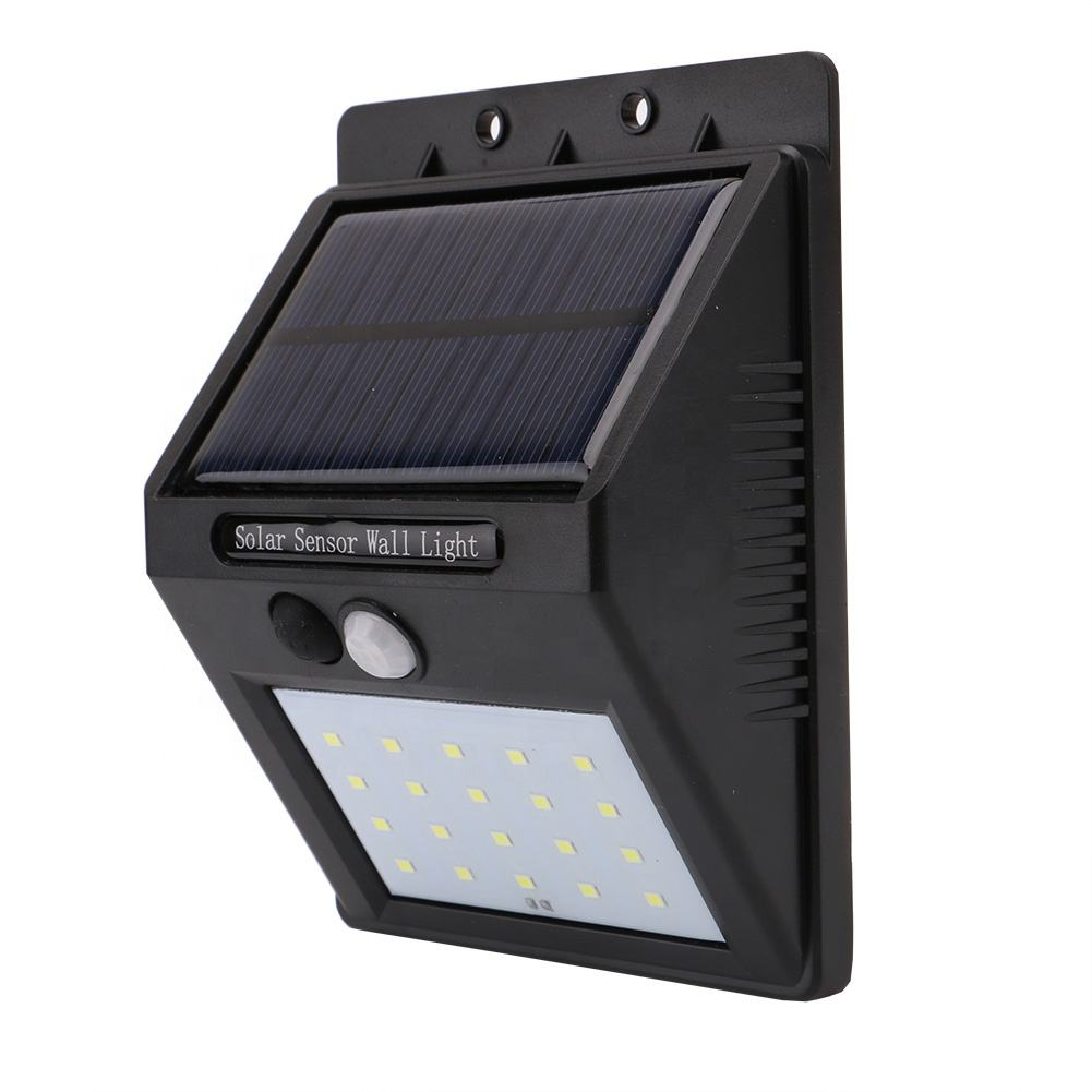 20LED 30LED Super brillante IP65 impermeable recargable Solar <span class=keywords><strong>de</strong></span> <span class=keywords><strong>seguridad</strong></span> al aire libre <span class=keywords><strong>jardín</strong></span> patio Solar Sensor <span class=keywords><strong>de</strong></span> movimiento <span class=keywords><strong>de</strong></span> luz <span class=keywords><strong>de</strong></span> la pared