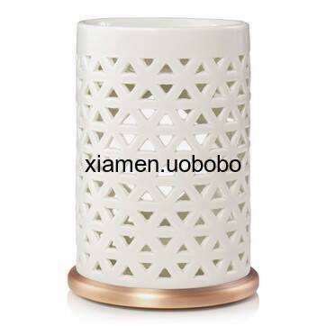 Wholesale Round Candle Wax Warmer Ceramic Fragrance Oil Burner for Warmer