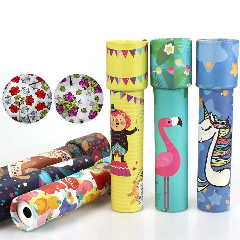 Montessori Rotating Kaleidoscope Imaginative Cartoon Prince Children Interactive Logical Magic Classic Educational Toys