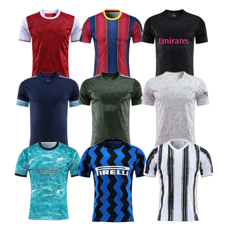 2021 Hot Sale Real Thai Quality Inter Milan Madrid Fans City Europe Team Soccer Tshirt Jersey Custom Football Uniform