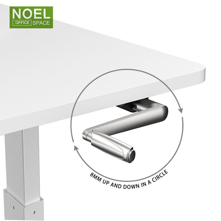 Furniture Manual Standing Office Hand Crank Table Sit To Stand Desk Smart Standing Desk Adjustable Height