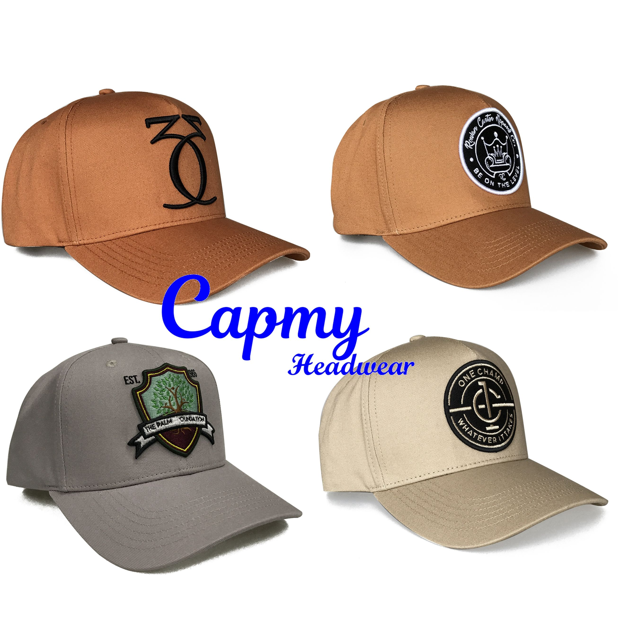 New Design brown a frame baseball cap hat 5 panel style women men caps hats , hat wheat