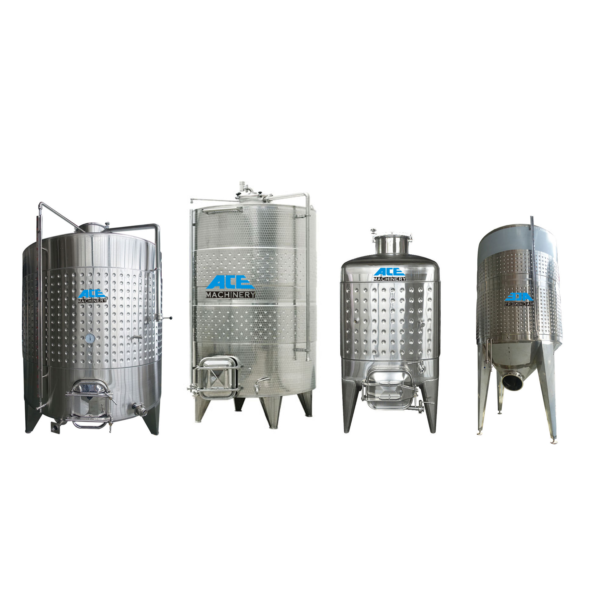 1000l 2000l 4000l 5000 Liters Stainless Steel Red Fruit Wine Fermentation Tank Equipment Wine Making Machine Wine Fermenter Tank