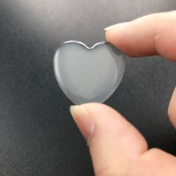 1Inch Waterproof Promotional Gifts Clear Heart Epoxy Resin Stickers