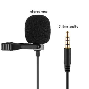 Metal usb wireless Microphone 3.5mm Jack Lavalier Tie Clip Microphone Mini Audio Mic for Computer Laptop Mobile Phone