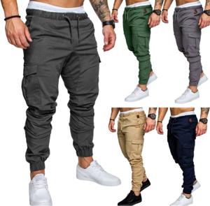 Solid color cotton 2020 Most popular men's casual trousers fashion men's slim pants