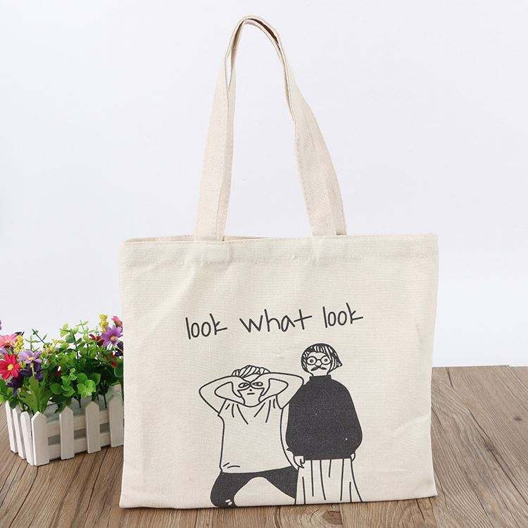 Custom print high quality best selling canvas tote bag for shopping and gifts packaging