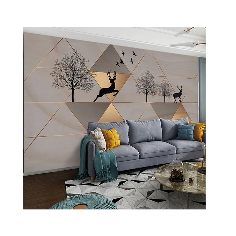 Best price living room fashion design wall paper wallpaper/wallcoveing wholesale in China Setting wall