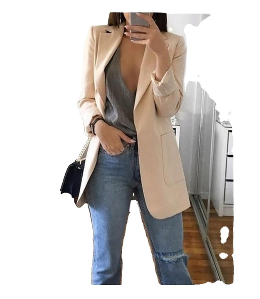 blazer for women ladies Long Sleeve Women Tops Suit Coat Solid Color Office OL Style Cardigans Blazer Suits Mujer