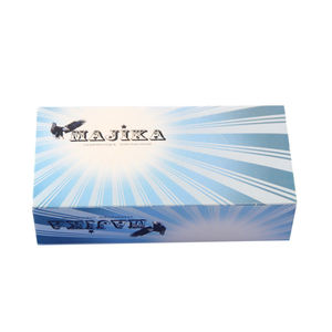 Eco friendly 3ply cheap price wholesale wrapping white custom printed logo box facial tissue paper
