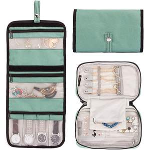 Foldable travel jewelry roll jewellery storage pouch bag