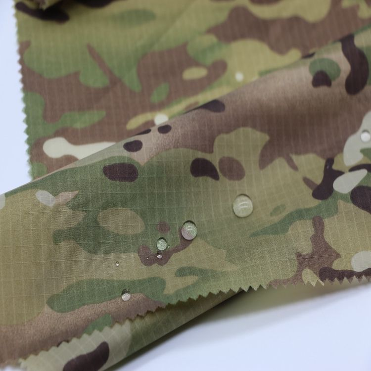 Camouflage Printed Nylon Ripstop Fabric for military