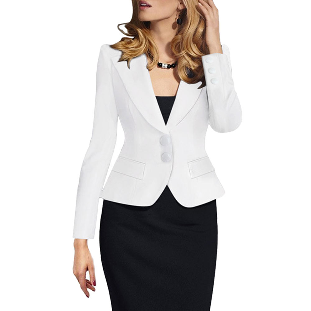 Top Selling Double Button Women Blazers Off Lady New Model Suits