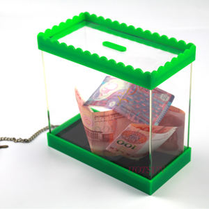 High-grade clear acrylic money box hot selling plastic money box