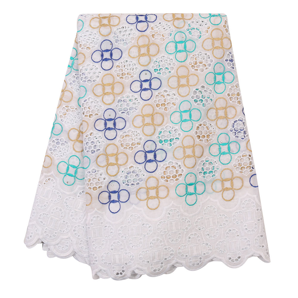 best design Swiss Voile Lace in Switzerland for family gathering nigerian Cotton Lace Fabric with Stones dressed XZ3178B