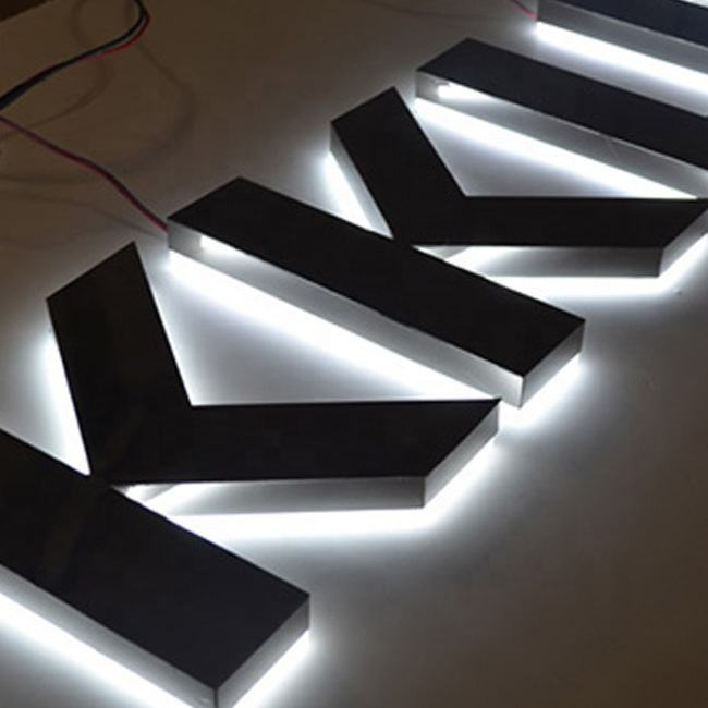 DIY LED <span class=keywords><strong>Backlit</strong></span> Channel Letter Sign Yang Lama <span class=keywords><strong>Backlit</strong></span> Vinyl Panel Tanda Reverse Channel Letter Sign