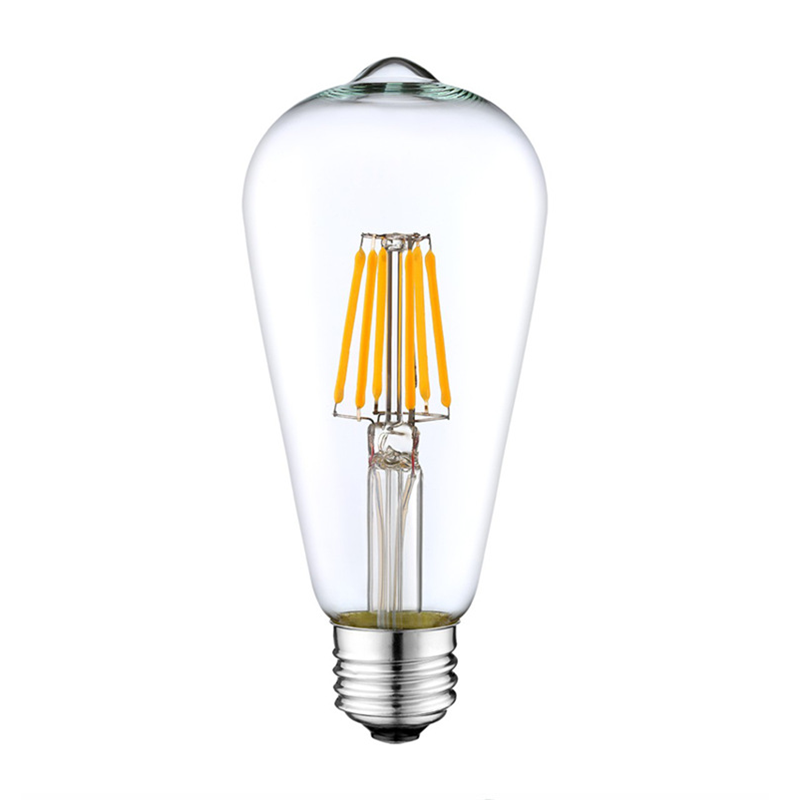 Decorative dimmable LED bulb chandelier light ST64 A19 2W 4W 6W 8W E14 E27 C35 C37 filament bulb