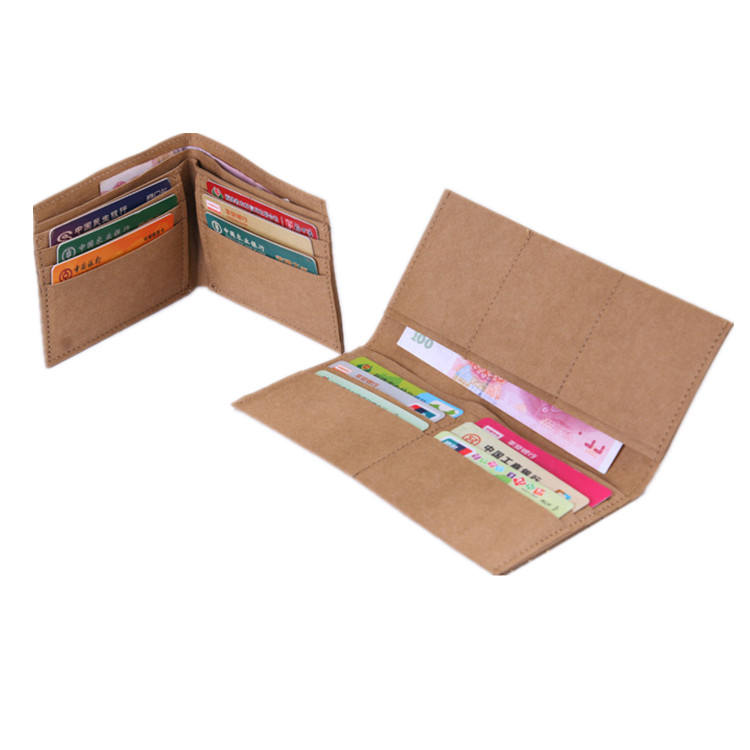 Eco friendly wallet washable kraft paper wallet