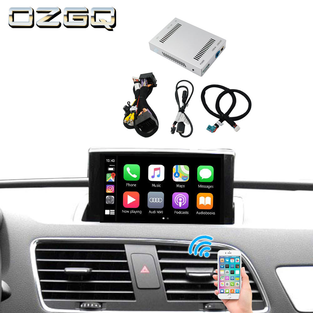 Per Originale AUDI A4 A3 A5 S5 Q2 Q5 Schermo Auto 3 in 1 Wireless CarPlay Android Auto Mirrorlink Integrazione interfaccia Video