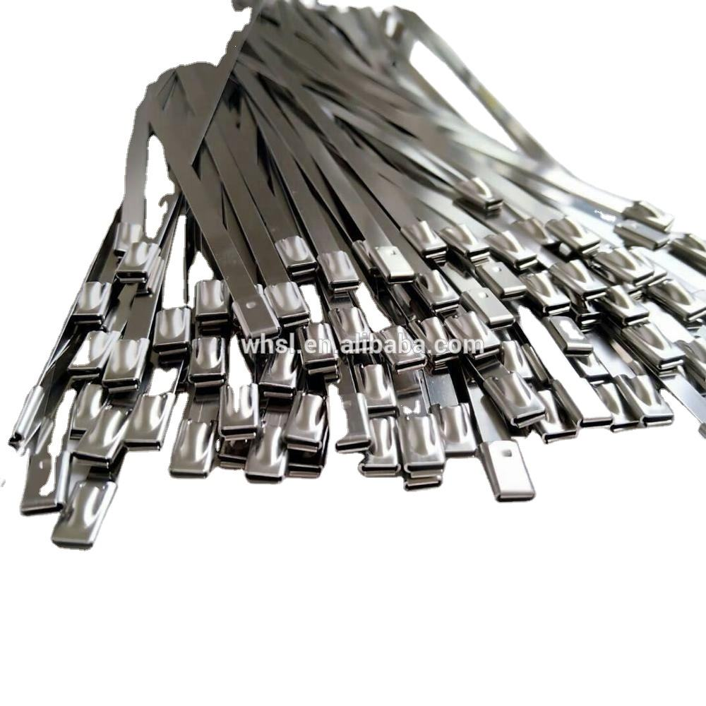 High Quality S201 S304 S316 Material10*550mm Self Locking Stainless Steel Cable Ties Zip Ties Uncoated
