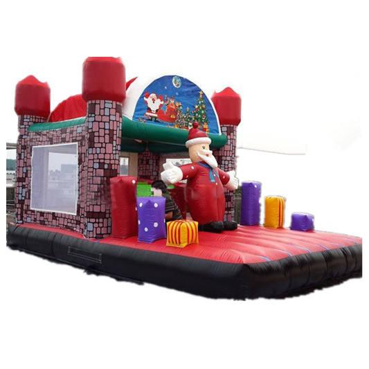 Рождество надувной boucner дом, Санта-Клаус дом открытый надувной <span class=keywords><strong>замок</strong></span>
