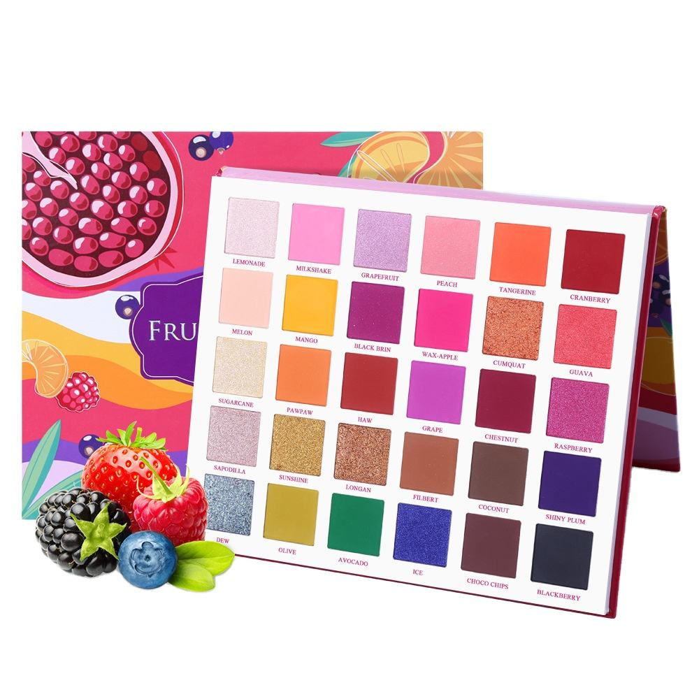 Professional Makeup 30 Color Fruit Pie Filling Shimmer Matte Eyeshadow Palette Private Label Acceptable