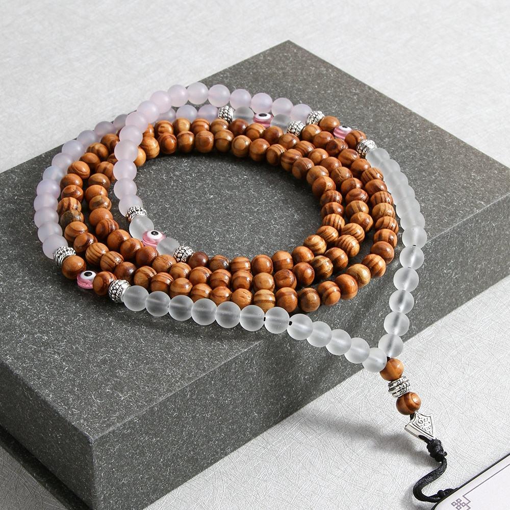 Großhandel handy zubehör custom mode lange frosted glas runde perlen telefon kette für Handy Riemen