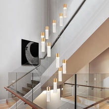 Modern Decoration Cylinder Custom Kristall Contemporary Gold droplight Pendant Lamp Lustres Chandelier Light Hanging Light