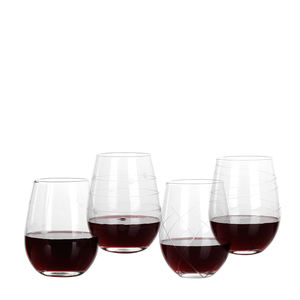 Fashionable stemless drinking glass cup wine set light glasses