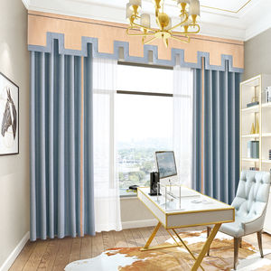 Wholesale Custom Valance Solid Fabric 100% Polyester Hotel Project Thermal Isolated Curtains