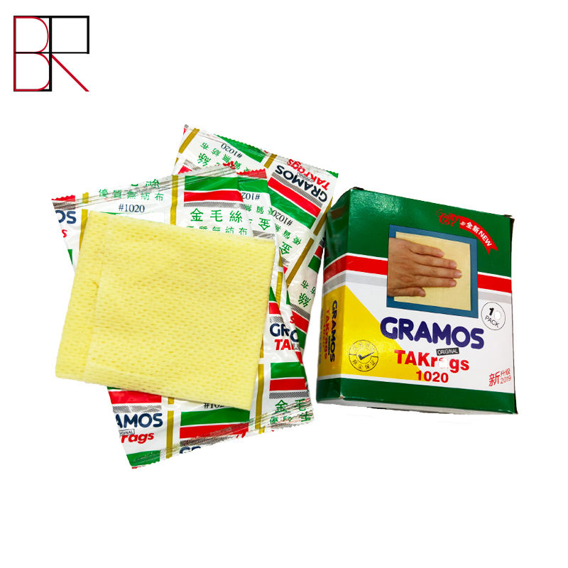 Bangrong Hot Sales Nonwoven Cloth Non-Woven Fabrics Auto Paint Cloth Auto Paint Tack Cloth For Car