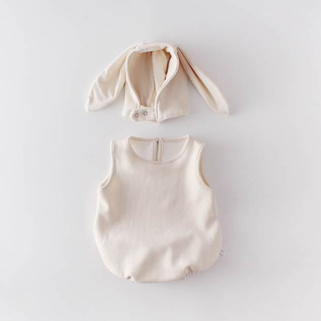 PHB 10098 back pom design fashion hooded rompers baby clothes wholesale price