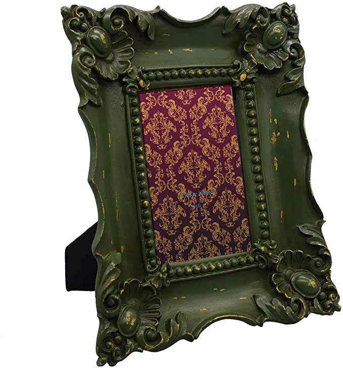 Resin Square Picture Frame Baroque Frames Photo Picture 4x6 Shabby Chic Photo Frames in Moss Green