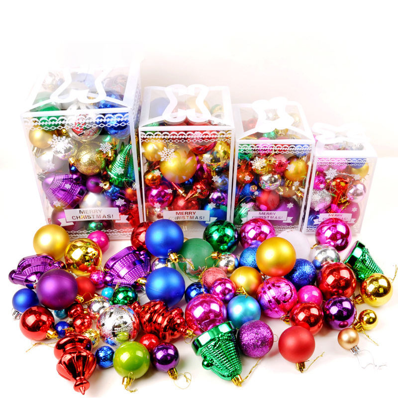 2020 Factory custom 6cm 8cm 10cm New design Clear Plastic Christmas Balls Ornament