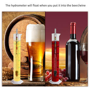 ZHONGJIUYUAN Professional Alcoholometer mini hydrometer for alcohol meter for Wine Alcohol Whisky with The Thermometer