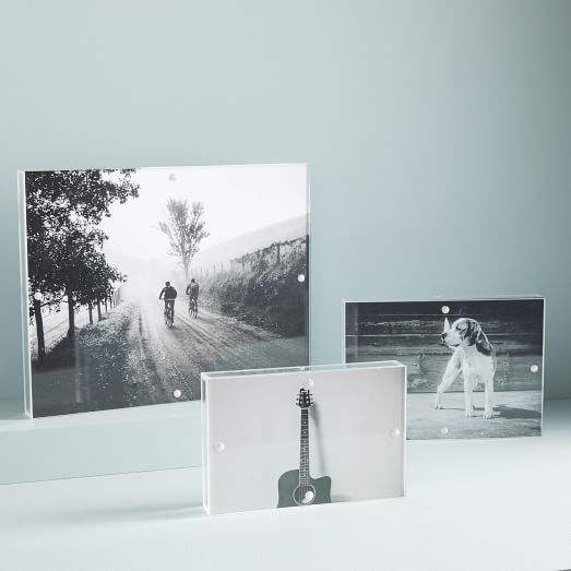 large clear acrylic wall shadow box painting photo frame for art exhibition