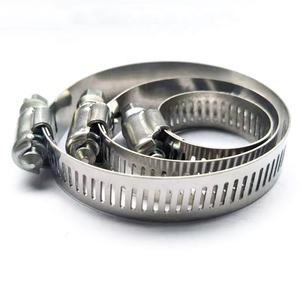 The Latest 201 Stainless Steel American Type Adjustable pipe clamp abrazaderas Hose Clamps