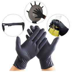 disposable black permanent makeup and tattoo nitrile gloves