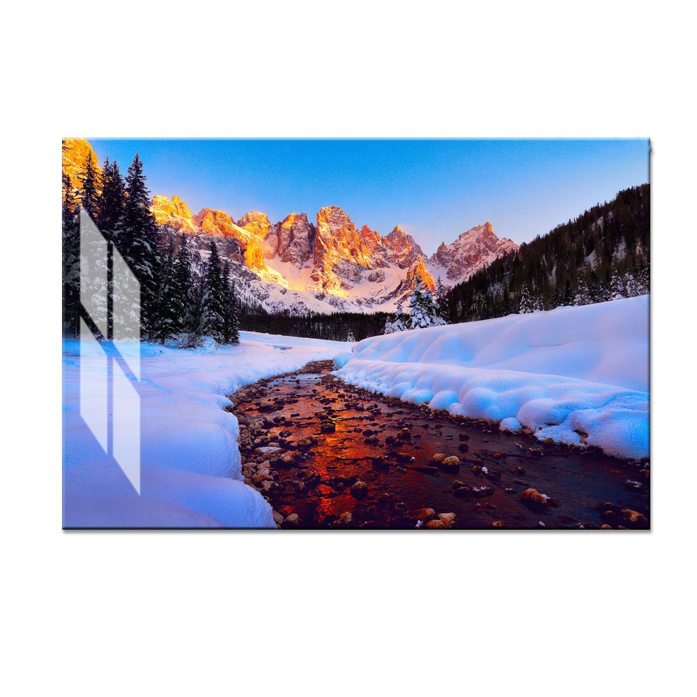 Factory Supply Custom Big Size Digital Landscape Photo Wall Art Prints UV Printing on Acrylic Sheets