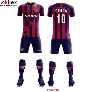 Cheap Sublimated Custom Soccer shirt Uniform Football Club set men customized Soccer Jersey