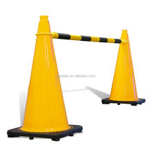 China alibaba Plastic Collapsible Retractable PVC PE Traffic Cone Connect Bars 18 Inches Reflective Traffic cone