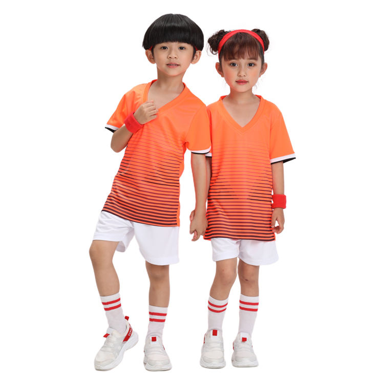 Quick-drying Breathable Gym Workout Clothes Kids Sportswear Thermal Transfer High-quality Sports Pants Suit Children