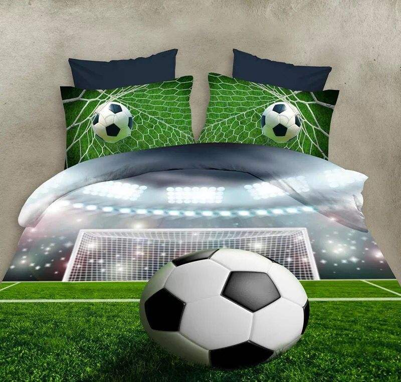 Popular football soccer bedding set four set duvet cover quilt cover pillowcase 3d