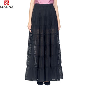 slanna best selling female a line high waist sexy beach chiffon tutu skirt for adult long maxi skirt for woman skirt