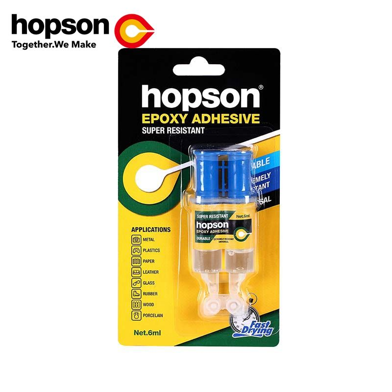 Epoxy Adhesive two component 3+3ml clear epoxy resin AB glue HOPSON HEP-001/002/003