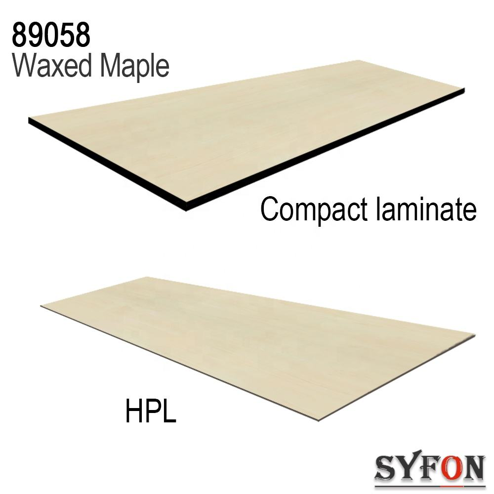 Waxed Maple hpl high pressure laminate formica compact laminate for furniture wall facade toilet partition and lockers