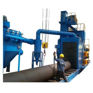 QGW Steel pipe shot blasting machine External Steel Pipe Cleaning Machine