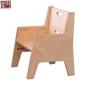 Flat packed kids furniture birch plywood kids stool Adjustable Montessori Weaning Chair