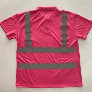Fluorescent High Visibility Short Sleeves High Quality Reflective Safety T shirts