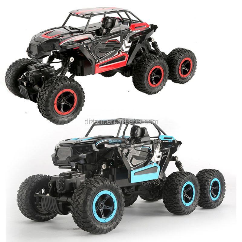 6X6 Rally Car 2.4G Rc Cross Country Rock Crawler 6WD truck 1/14th